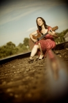 Photo by DJ Glisson (note: Sitting on train tracks is actually not safe, don't try this at home!)